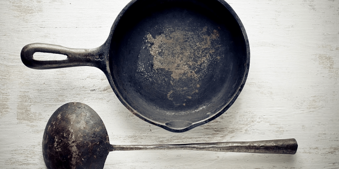 How to Clean a Rusty Cast Iron Skillet With Salt